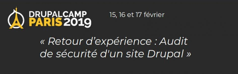 Drupal Camp Paris 2019